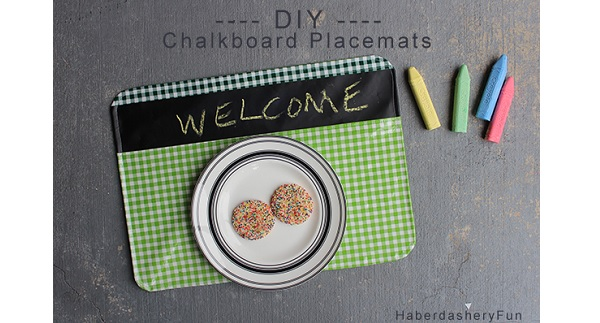 Tutorial: Chalkboard fabric placemats