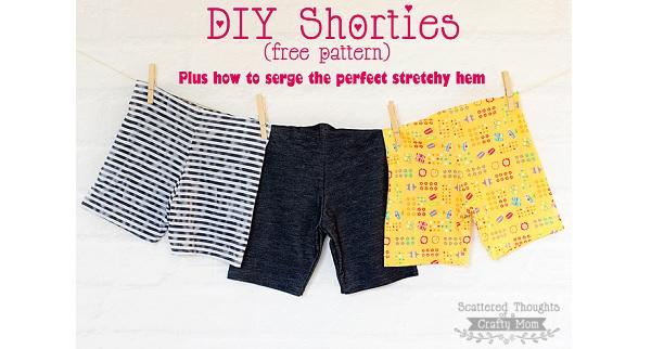 Free pattern: DIY shorties, or legging shorts for little girls