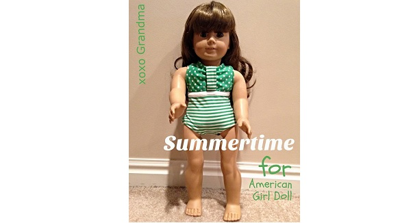 Tutorial: Child's outgrown swimsuit becomes a doll's swimsuit