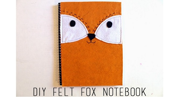 Tutorial: Felt fox notebook cover