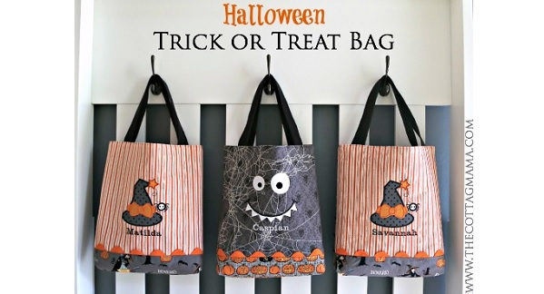 Tutorial: Adorable appliqued trick or treat bag