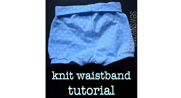 Tutorial: How to make a simple knit waistband