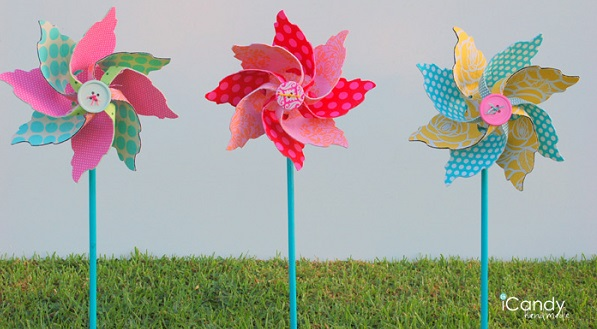 Tutorial Fun fabric pinwheels