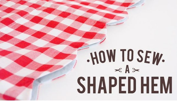 Tutorial: How to sew shaped hems