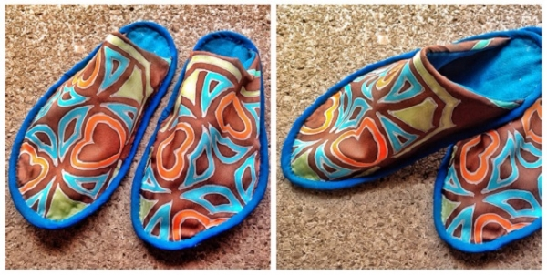 Free pattern: Unisex silk slippers