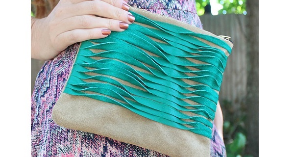 Tutorial: Textured leather clutch