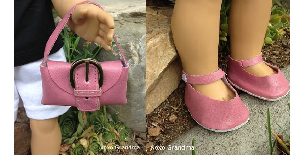 Free pattern: Doll purse and shoes from an old wallet