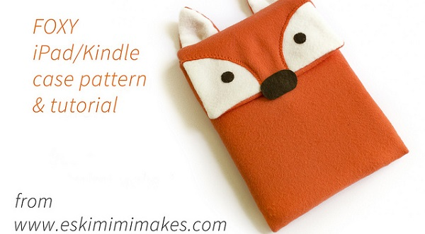 Free pattern: Fox Kindle or iPad Sleeve