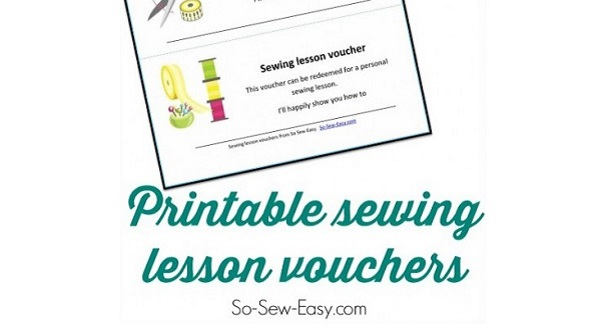 Freebie: Printable sewing lesson vouchers