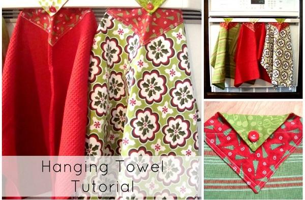 Tutorial hanging dish towel sewing craftgossip bloglovin - Hanging kitchen towel tutorial ...
