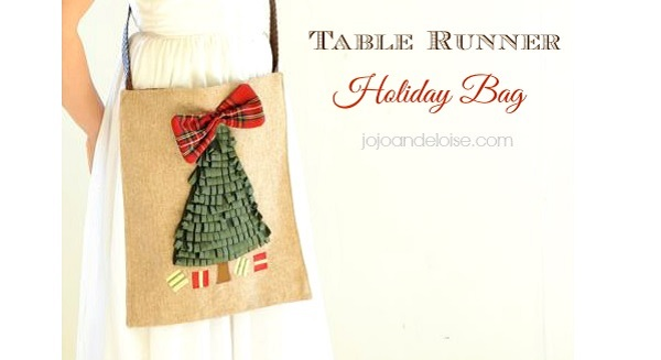 Tutorial: Holiday table runner purse