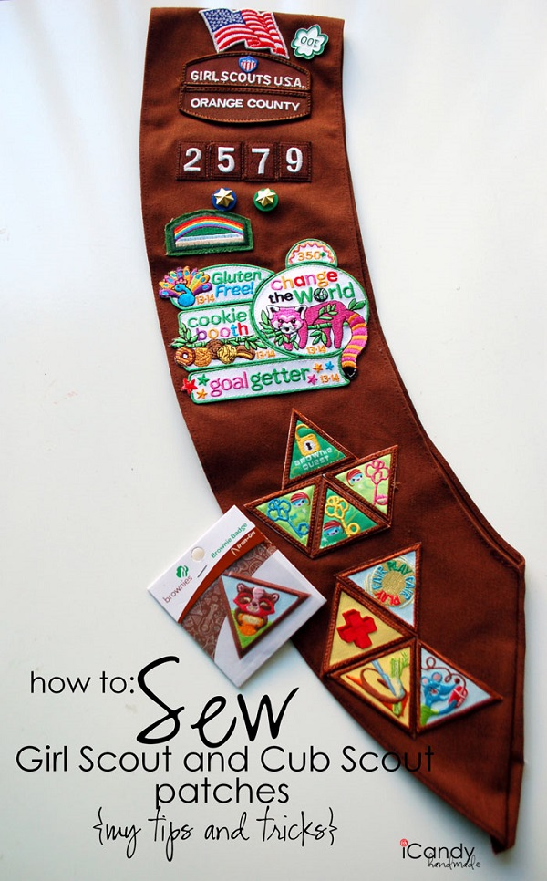 Tutorial sew scout badges quickly and easily on your sewing machine