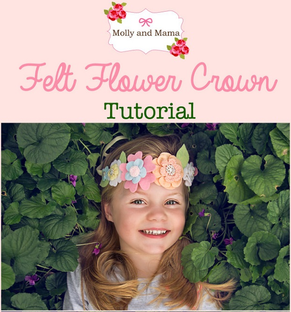 Tutorial: Felt flower crown