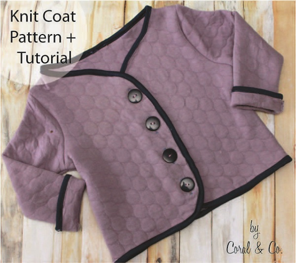 Free pattern: Little girl s knit jacket   Sewing