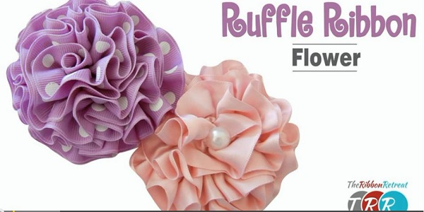 Video tutorial: Ruffle ribbon flower
