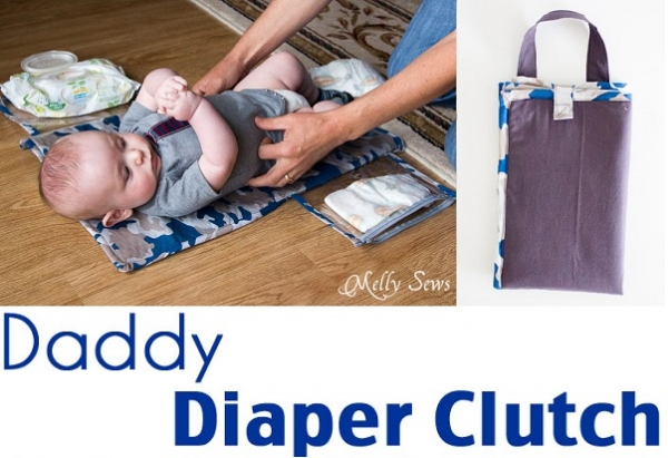 Tutorial: Daddy Diaper Clutch