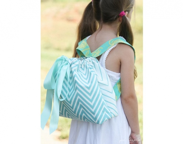 Tutorial: Kids' drawstring backpack