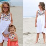 Free pattern: Girls summer dress with a contrast bib bodice