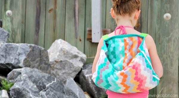 Tutorial: Easy towel backpacks