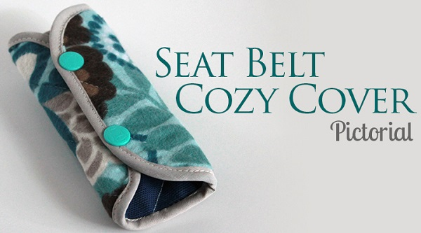 Tutorial Cozy Seat Belt Cover Sewing