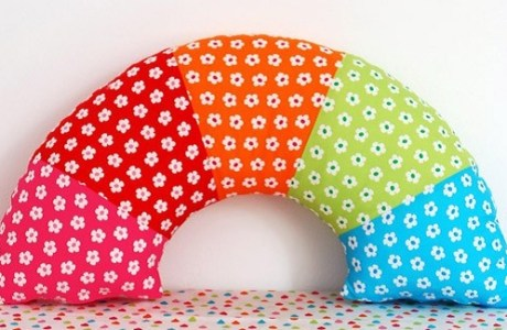 Make A Rainbow Pillow Diy We Are Scout