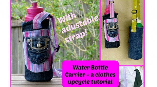 Tutorial: Water bottle carrier with an adjustable strap