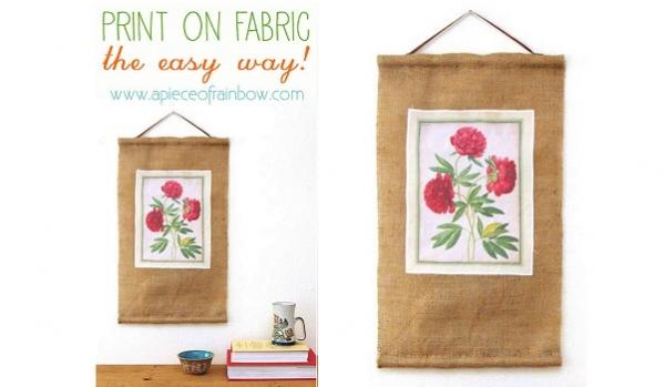 Tutorial: Botanical print burlap banner
