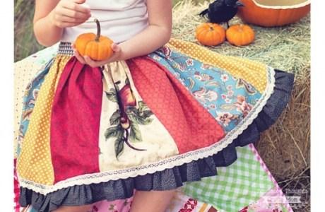 Free pattern: Girls flat front panel skirt