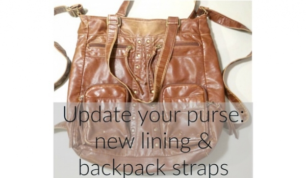 Tutorial: Add backpack straps to a thrifted purse