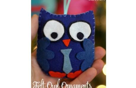 Tutorial: Felt owl Christmas ornament