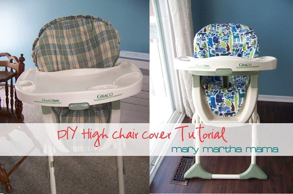 Tutorial: How to make a high chair seat cover
