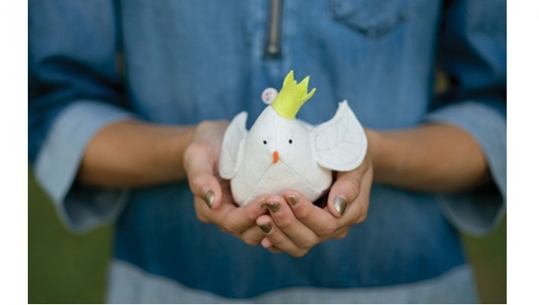 Tutorial: Peaceful Dove pincushion or Christmas ornament