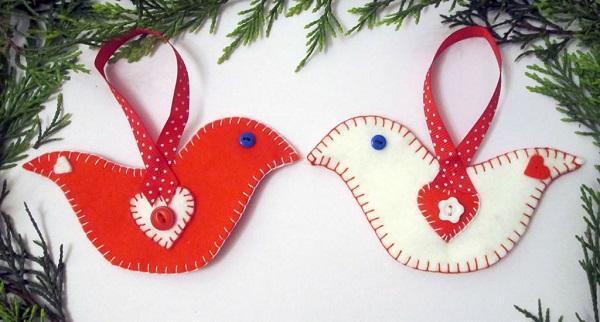 Tutorial: Felt bird Christmas ornament