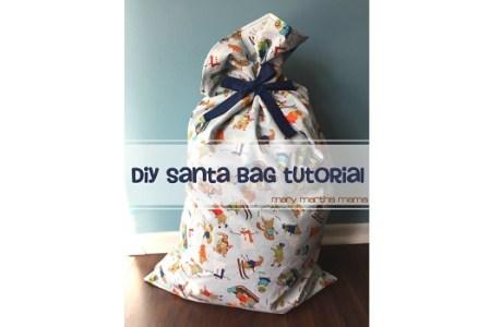 Tutorial: Large fabric Santa bag to hold presents