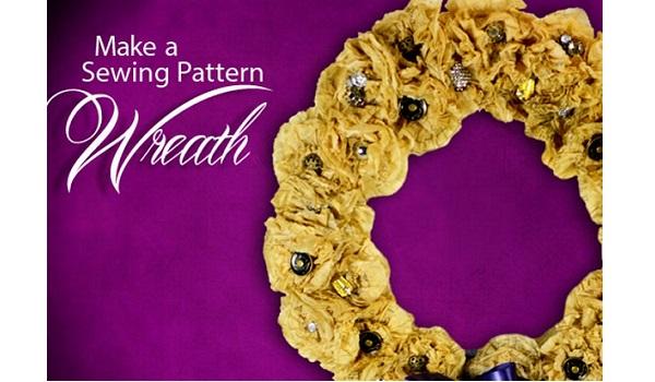 Tutorial: Sewing pattern tissue wreath