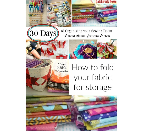 Tutorial How to fold your fabric stash