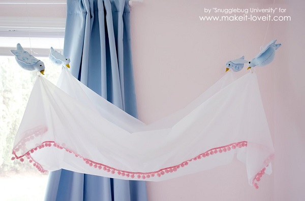 Tutorial Cinderella Inspired Bird Bed Canopy Sewing