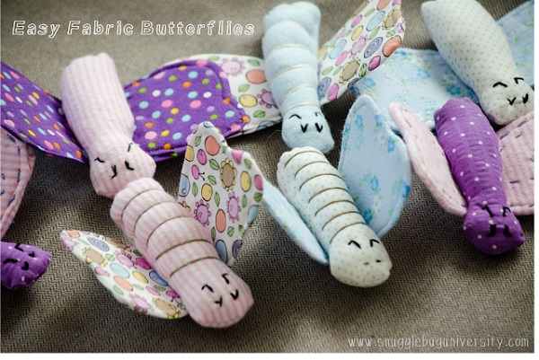 Free pattern: Easy butterfly softies