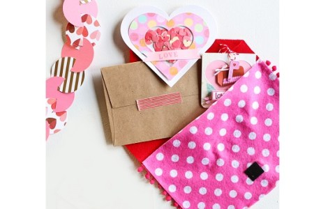 Tutorial: No-sew felt Valentine storage envelope