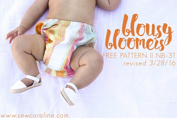 Free pattern: Blousy Bloomers diaper covers