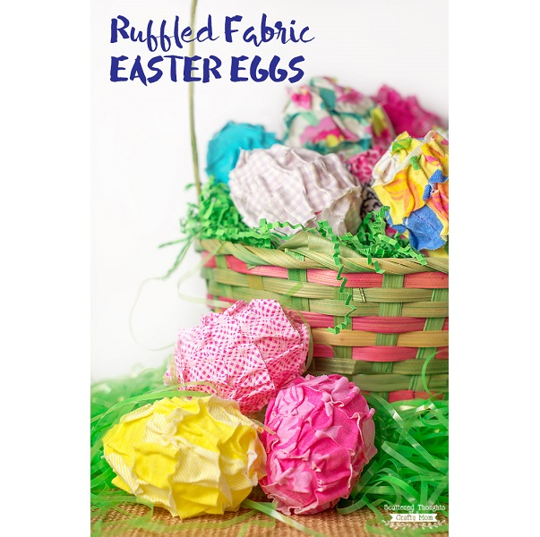 Tutorial: No-sew ruffled fabric Easter eggs