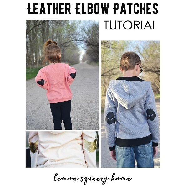 Tutorial: Leather elbow patches in fun shapes
