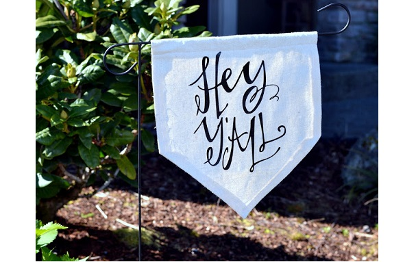 Tutorial: Yard banner from a drop cloth