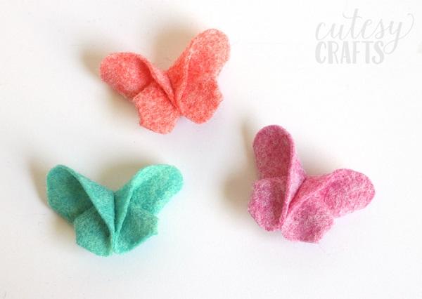 Tutorial Felt origami butterflies