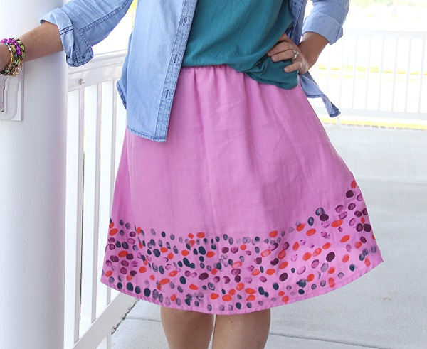 Tutorial: Mother's Day fingerprint skirt