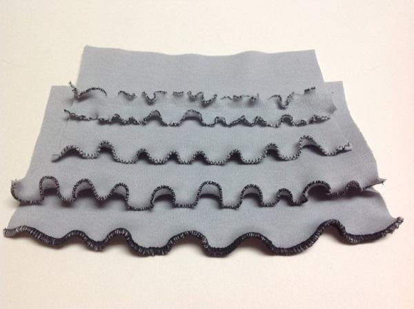 Tutorial: Lettuce edge hem on knit fabrics