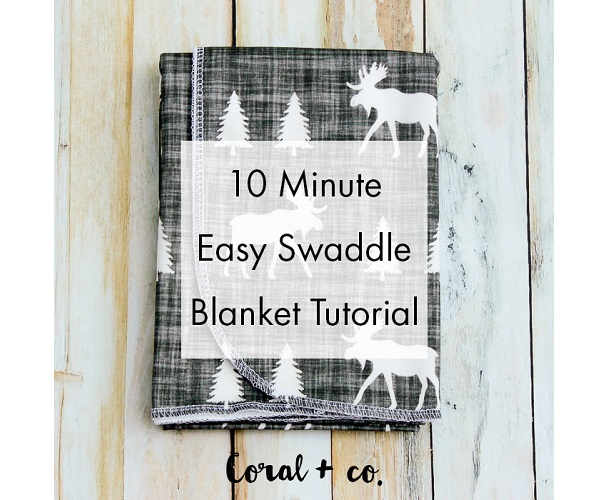 Tutorial: 10-minute baby swaddle blanket