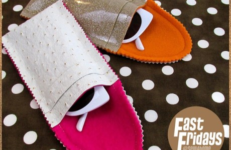 Free pattern: Faux leather & fleece sunglasses case
