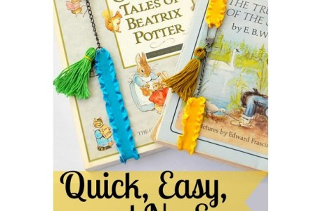 Tutorial: No-sew elastic bookmarks