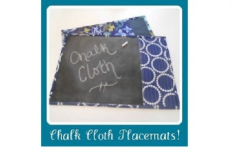 Tutorial: Chalk cloth placemats